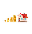 financial real estate vector image