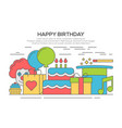flat happy birthday festive concept vector image vector image