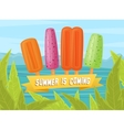 Fruit and berry ice creams vector image vector image