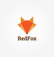 geometric fox logo sign symbol icon vector image vector image