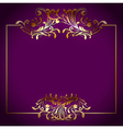 Golden Square Victorian Floral Frame vector image vector image