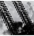 Grunge tie track background vector image vector image