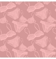 Hand drawn sexy lingerie set vector image