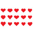 heart icons set simple design vector image vector image