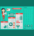 hi-tech infographic template vector image vector image