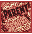 How To Get Parents Involved With School Activities vector image vector image