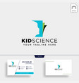 kids learning science creative logo template icon vector image vector image