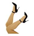legs in black high heels vector image vector image
