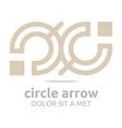 letter c arrow brown icon symbol logo design vector image vector image