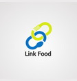 link food logo iconelement and template vector image vector image