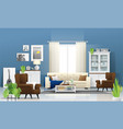 living room background in modern rustic style vector image