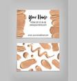 makeup artist business card template vector image vector image