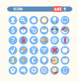 modern icons set web buttons collection vector image