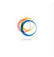 multicolored rings logo concept auto vector image