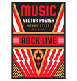 music concert rock festival poster vector image