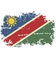 Namibia grunge flag vector image vector image