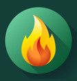 red fire flame icon logo vector image vector image