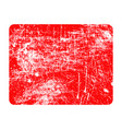 red rectangular grunge stamp with copyspace vector image vector image