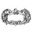 renaissance strap-work frame fluttering ribbons vector image vector image