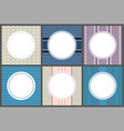 round spare frames on strips circle border vector image vector image