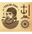 sailor man with pipe vector image
