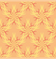 seamless abstract stars vintage orange pattern vector image vector image
