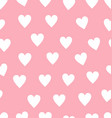 seamless red and pink heart pattern background vector image vector image