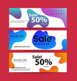 set abstract modern graphic liquid banners vector image vector image