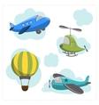 set cartoon aircraft vector image