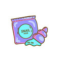 snail mask concept vector image