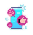social media icon chat bubble mobile application vector image