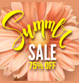 summer sale poster with handwritten text get up vector image vector image