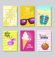 sunny beach badge isolated typographic design vector image