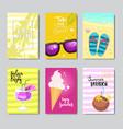 sunny beach badge isolated typographic design vector image
