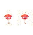 umbrella and sale announcement vector image