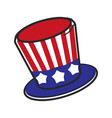 uncle sam usa america hat symbol travel vector image