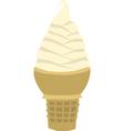 Vanilla soft serve ice cream cone vector image