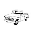 vintage car line art outline car vector image