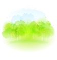 watercolor spring landscape vector image