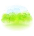 watercolor spring landscape vector image vector image