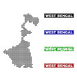 west bengal state map in dot style with grunge vector image