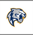 white tiger e sports logo vector image vector image