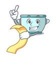 with menu steel pot mascot cartoon vector image