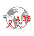 world aids day concept aids awareness realistic vector image vector image