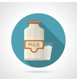 Flat color icon for dairy vector image