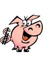 Hand-drawn of an Dollar Pig vector image