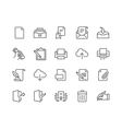 Line Document Icons vector image