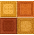Abstract pattern background tile set vector image vector image