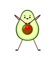 avocado sport with red weight character vector image vector image