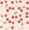 beautiful seamless pattern with cherries berries vector image vector image